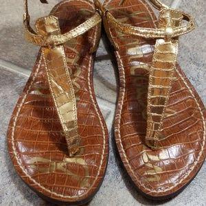 Sam Edelman gold sandals sz 6.5